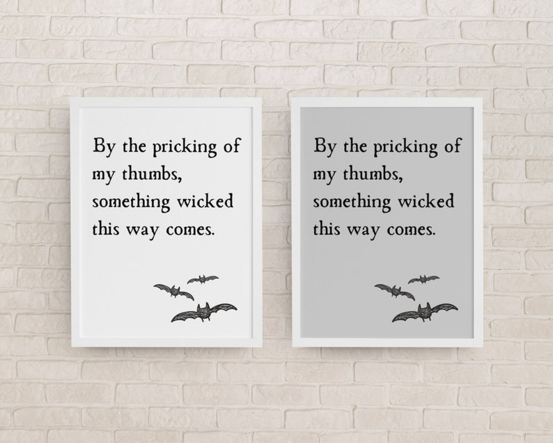 Something Wicked This Way Comes Quote Printable Halloween Wall image 0