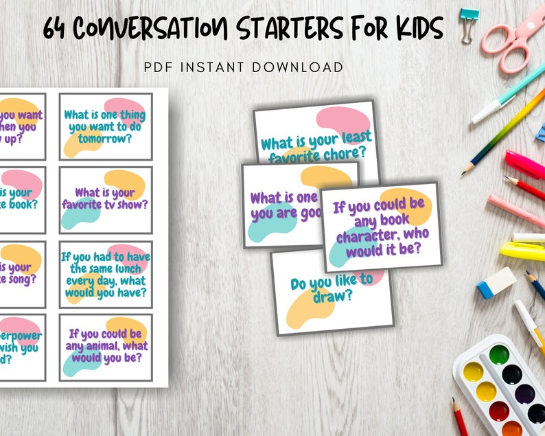 Public Speaking Conversation Starters for Kids Writing image 0