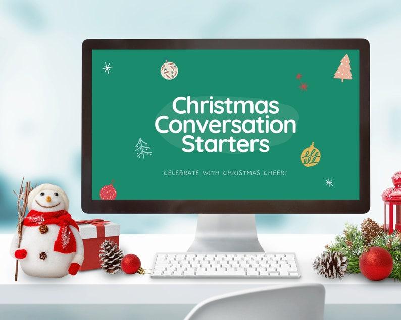 Virtual Christmas Game Christmas Conversation Starters Zoom image 0