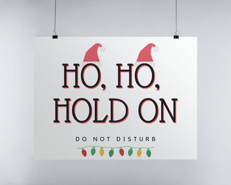Christmas Door Sign Ho Ho Ho Do Not Disturb Sign Christmas image 0