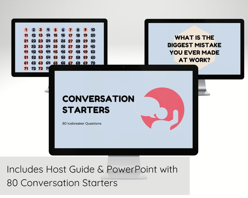Conversation Starters Virtual Game for Family Icebreaker Zoom image 0