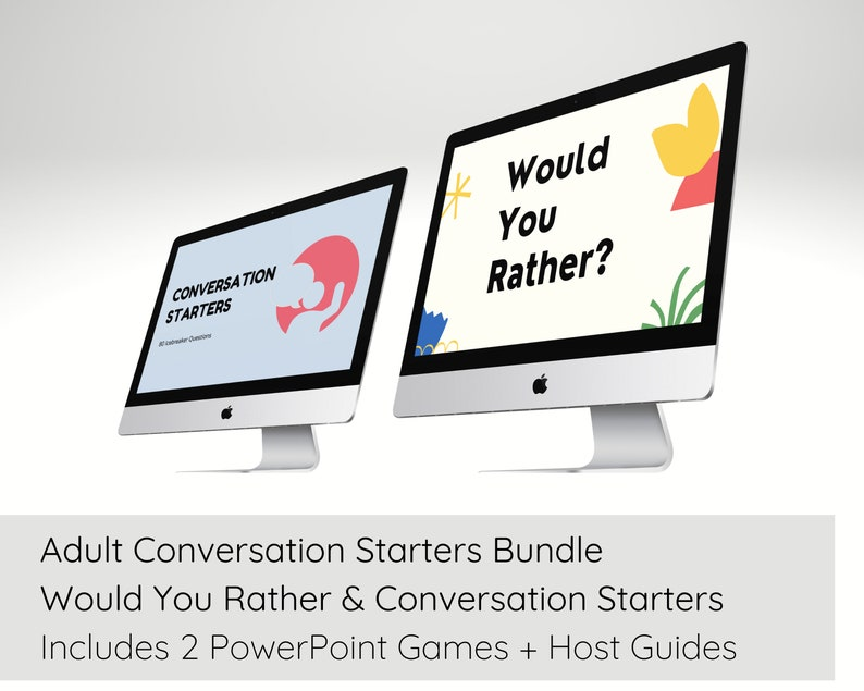 Virtual Conversation Starters Bundle w Would You Rather image 0