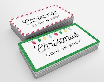 Christmas Coupon Book Printable | Christmas Gift for Mom | Coupon Template Editable | Printable Voucher | DIY Coupon Book | Stocking Stuffer