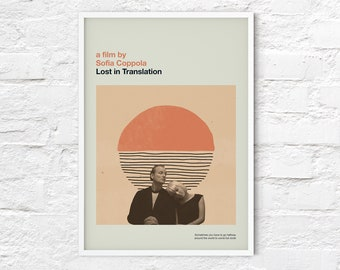 Lost in Translation print   Movie poster   Mid Century Modern   abstract, retro, minimalist   A2/A3/A4 sizes