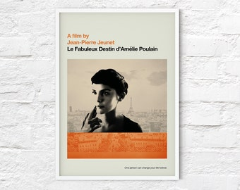 Amelie print   Movie poster   Mid Century Modern   abstract, retro, minimalist   A2/A3/A4 sizes.