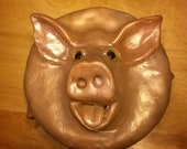 Jewellery Box | Hungry little piggy | polymer clay sculpture on ceramic Jar | great gift for anyone