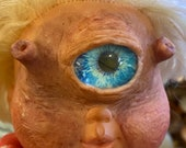 Ogre Cyclops baby | scary doll| toy art sculptures made to order 36 cm
