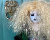 Goth girl Porcelain Beautiful scary doll   Halloween decoration gothic art