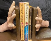 Hands hold your books, Bookends Made to order  | hands holding books | one of a kind  shelf | Hand made to order unique gift
