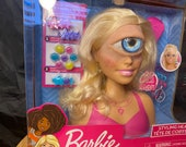 Cyclops Fashion face Barbie | toy art sculpture | creepy doll | one of a kind
