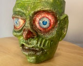 Rotting Zombie Ugly mug | Ceramic mug sculpture | one of a kind art for home decor, collectable Unique artwork made by hand