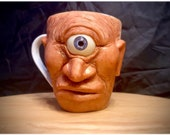 Cyclops | Ugly mug sculpture | Ceramic mug one of a kind art for home decor | collectable Unique artwork made by hand Cyclops Oddity