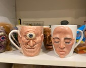 Custom uglymugs sculpture one of a kind art for home decor, collectable Unique artwork made by hand | halloween style