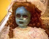 Gothic Porcelain doll | haunted girl with pet bird | scary doll | Beautiful Halloween decoration