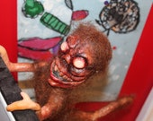 Meet the Homunculus, hanging Halloween horror decoration. hand made ooka doll/sculpture. Scarry doll. perfect for Party's