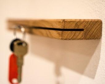 Oak key bar, key board, ideal wedding gift or to move in - holzmachr
