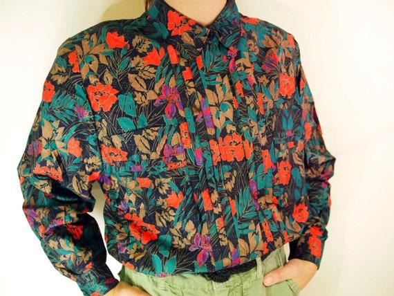 Vintage Floral Print  Shirt / Vintage Floral Butt… - image 7