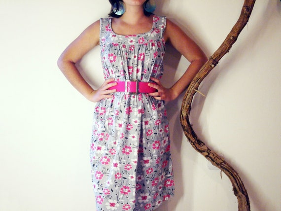 Vintage floral cotton dress.