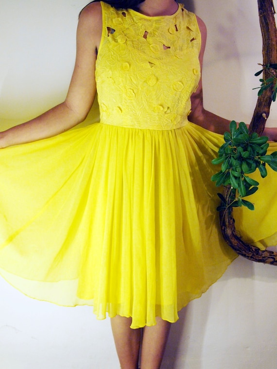 Yellow dress from fairy tales.