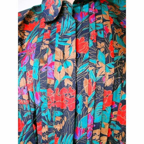 Vintage Floral Print  Shirt / Vintage Floral Butt… - image 3