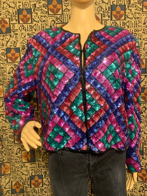 Nipon Night bedazzled colorful blazer - image 1