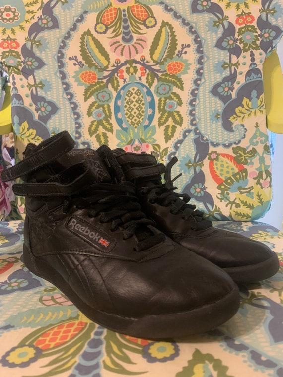 Reebok Freestyle Hi-Top Black Shoes