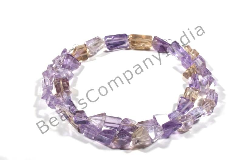 BCI#6334 119 Cts Ametrine Step Cut Nuggets Ametrine Step Cut Nuggets Beads 5x6-13.5x10 MM Ametrine Cut Nuggets Necklace Making Jewelry