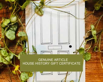 Gift Certificate for Genuine Article House History