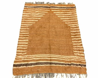 Vintage Siirt Blanket Siirt Blanket Kilim Rug,Siirt Blanket,Handmade Blanket Rug Kilim Angora rug,Hand Woven rug 5.4 x 4.5 ft