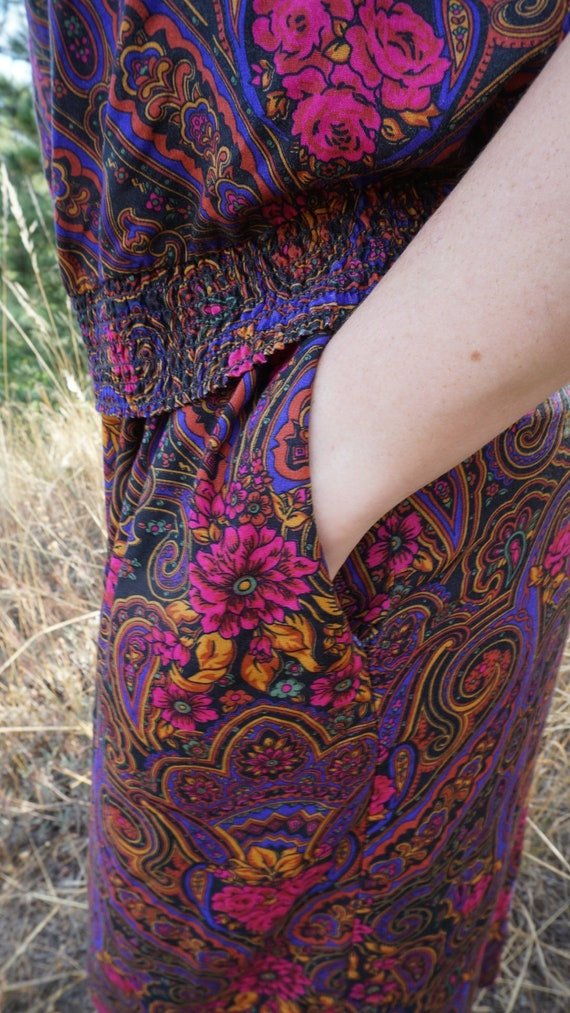 Vintage Paisely 2 Piece 1980s Floral Pant Suit Pl… - image 7