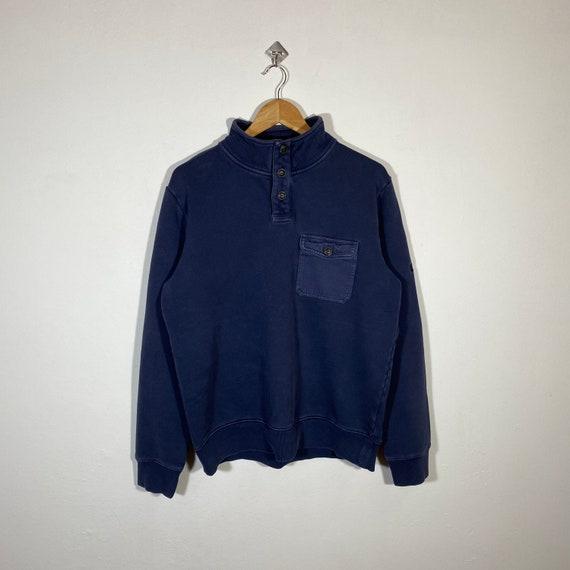 Vintage Timberland Sweatshirt Quarter Button Timbe
