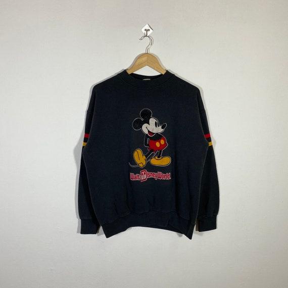 Vintage 80s Mickey Mouse Sweatshirt Mickey Crewnec