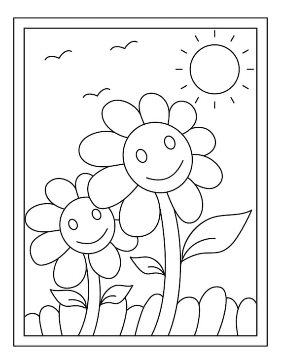16 Nature Coloring Pages for Kids // Printable Coloring Pages