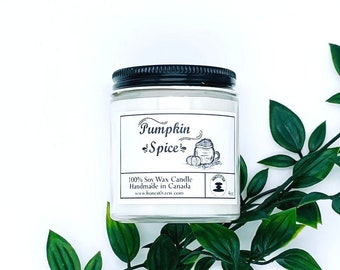 Pumpkin Spice Soy Candle, Zen Candle, Hand-poured Soy Candle, Vegan Candle, Holiday Candle, Christmas Candle, Candle For Mom, Candle For Dad