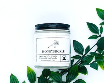 Honeysuckle Soy Candle, Zen Candle, Hand-poured Soy Candle, Vegan Candle, Holiday Candle, Christmas Candle, Candle For Mom, Candle For Dad