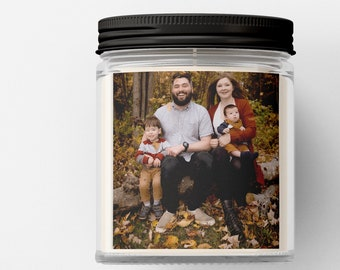 Personalized Photo Candle -  Customized Candle - Picture Gift Candle - Zen Soy Candle - Gift Candle