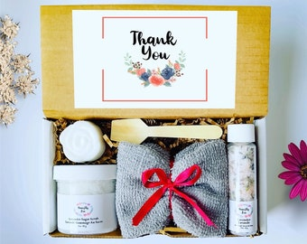 Thank you Spa Gift Set , Honestly Zen Care Package, Natural Handmade Products, Gift Box for occasions