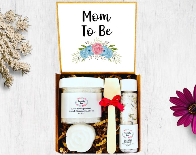 Mom To Be Spa Gift Set,  Postpartum Care Package, Pregnancy Care Package, Spa Gift Box for Women, New Mom Care Package, Gift For New Mom