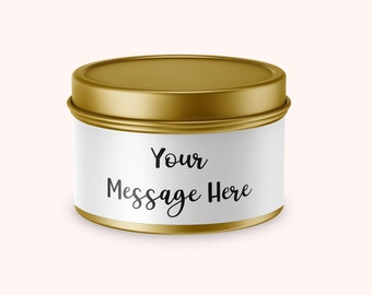 Personalized Candle, Custom Message Candle, Gift Candle, Zen Soy Candle, Greeting candle, Mothers Day Gift, Gift for Mom, Mothers Day Candle