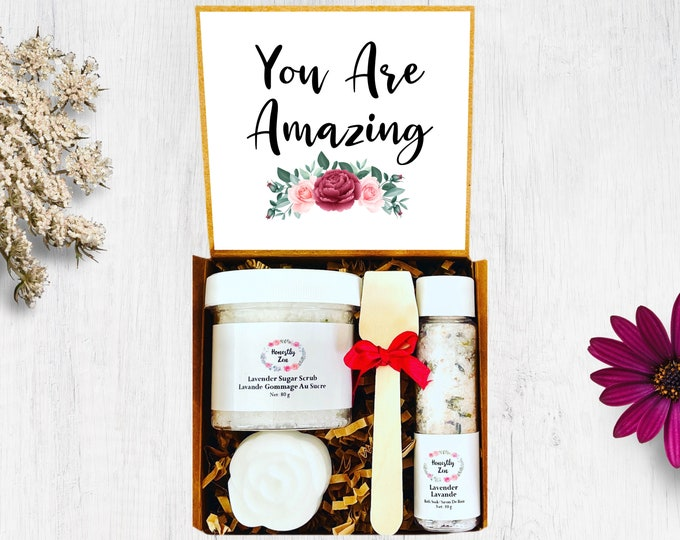 You Are Amazing Spa Gift Set, Zen Care Package, Spa Gift Box for Women, You Are Awesome Care Package, Miss You Care Package, Mothers Day