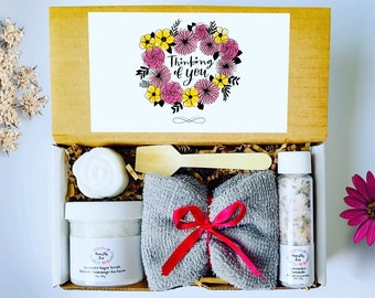 Thinking Of You  Spa Gift Set , Honestly Zen Care Package, Natural Handmade Products, Gift Box for occasions