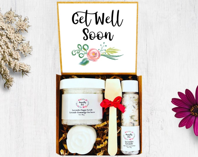 Get Well Soon Spa Gift Set, Zen Care Package, Spa Gift Box For Women, Thinking Of You Care Package, Sympathy Care Package, Sympathy Gift Box