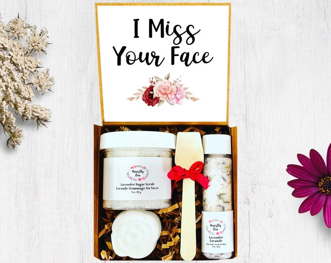 I Miss Your Face Spa Gift Set,  Zen Care Package, Spa Gift Box For Women, Thinking Of You Care Package, Miss You Care Package, Wedding Gift