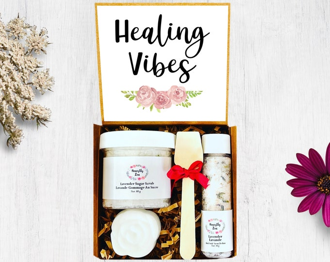Healing Vibes Spa Gift Set, Zen Care Package, Spa Gift Box for Women, Gift Box for occasion, Thinking Of You Care Package, Get Well Soon Box
