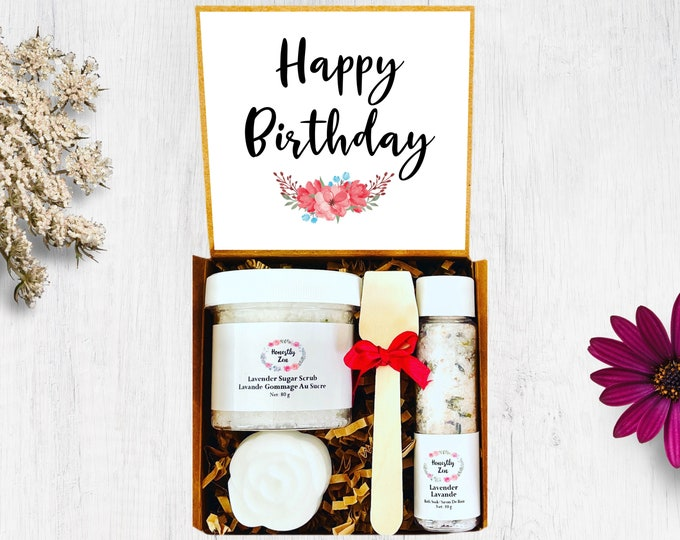Happy Birthday Spa Gift Set, Zen Care Package, Spa Gift Box for Women, Birthday Gift Box, Spa Gift Box for Birthday, Birthday Gift Basket