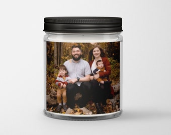 Personalized Photo Candle, Custom Photo Candle, Picture Candle, Wedding Gift Candle, Zen Soy Candle, Father's Day Candle, Father's Day Gift