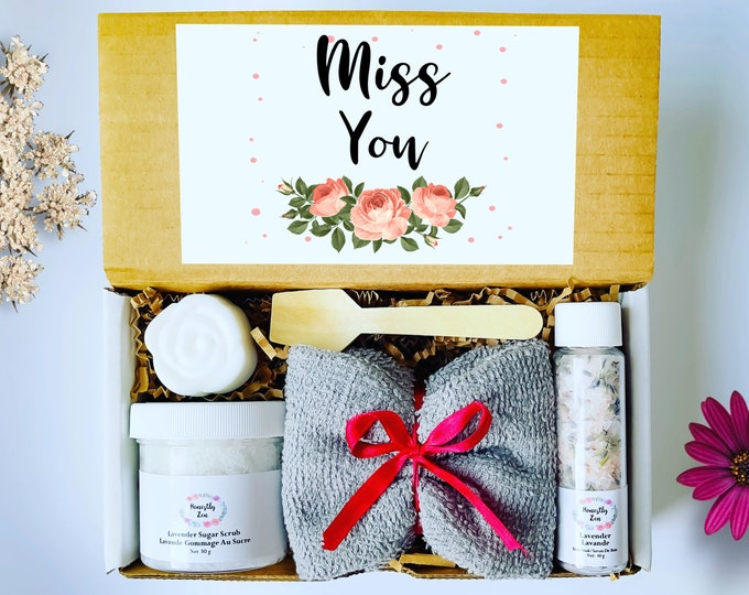 Miss You Spa Gift Box, Zen Care Package, Spa Gift Box for Women, Miss You Care Package, Miss You Spa Gift Set, Missing You Gift