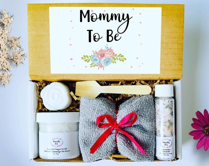 Mommy To Be Spa Gift Set, Postpartum Care Package, Pregnancy Care Package, Spa Gift Box For Women, Gift For New Mom, Mom To Be Gift Box
