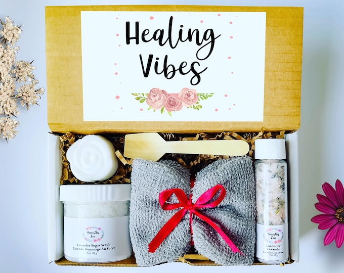 Healing Vibes Gift Box, Zen Care Package, Spa Gift Box for Women, Gift Box for occasion, Thinking Of You Care Package, Get Well Soon Box