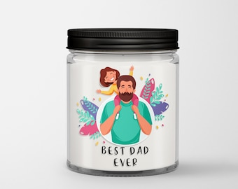 Fathers Day Candle, Gift For New Dad, Fathers Day Gift From Wife, Best Dad Ever Candle, Fathers Day Gift From Daughter, Dad Candle